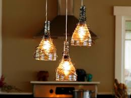 awesome cool hanging lights upcycle wine bottle into pendant light fixtures how tos diy chic hanging lighting ideas lamp