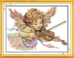 New arrival The Angel Who Plays The <b>Violin</b> DMC Counted <b>Chinese</b> ...