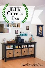 diy tea and coffee bar dwell beautiful perfect for salon waiting area check beautiful diy ikea