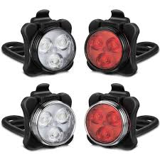 AKALE USB Rechargeable <b>Bike Light Set</b>, <b>LED Bicycle Lights</b> Front ...