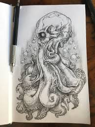 Cthulhu Skull Sketch - SIMON ONG DESIGNS - Design and Illustration