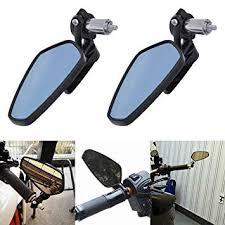 "KaTur 7/8"" 22mm <b>Motorcycle</b> Handlebar End Mirrors <b>Oval</b> CNC Billet ..."