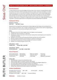 10 Sous Chef Resume Objective Sample - Job and Resume Template ... Sous Chef Resume objective dayjob personal statement employe history ...