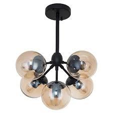 <b>Потолочный светильник</b> лофт Gh71t137/5BK AMB E27х5