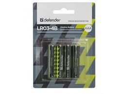 <b>батарейку Defender</b> LR03-4B 4PCS 56002 alkaline 4шт <b>ААА</b>