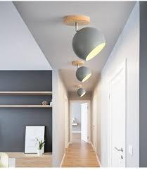 <b>BOTIMI Nordic LED Ceiling</b> Lights For Corridor Modern Wooden ...