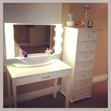 best white makeup table with freestanding chest of drawers and also mirror lighting best lighting for makeup vanity