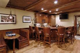 decoration attractive home basement bar ideas with likeable laminated wood flooring and agreeable wood bar agreeable home bar design