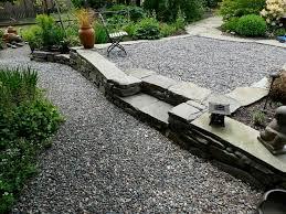 building gravel patio