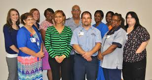 southern virginia regional medical center recognizes employees front l r bonnie cummings jakai barnes troy watson erica brown donna taylor back l r kelly byers lauren barnes dora smith person leroy smith