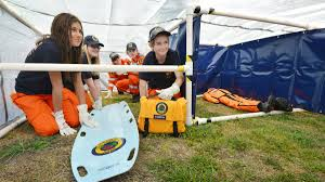 teenagers dig in to deal a day of disaster the northern tunnel training danielle hunt from careers network centre oxley high school students