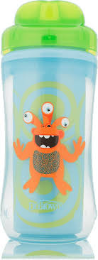 Dr. Brown's <b>Чашка</b>-<b>термос без носика</b> Зеленый монстр от 12 ...