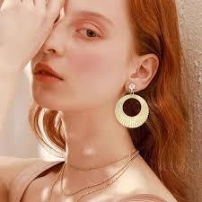ES2216 New Fashion Simple <b>Earring</b> Geometric Big <b>Round</b> ...