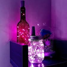 2m 20LEDs <b>Wine Bottle String</b> Lights Waterproof Silver Copper Wire ...