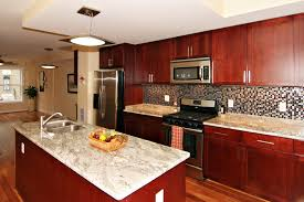 Small Picture Red Cherry Cabinets Kitchen edgarpoenet