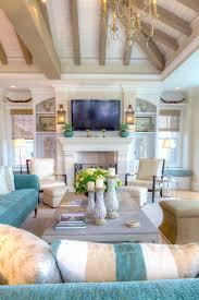 25 chic beach house interior design ideas spotted on pinterest harpersbazaarcom beach house living room tropical family room