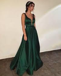 <b>Sexy</b> A-Line Side-Slit <b>Dark</b>-<b>Green</b> Prom Dress <b>2019</b> · MychicDress