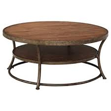 round wood living room tables