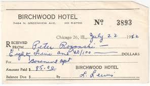 peter rozanski rent receipt for chicago apartment in rogers park neighborhood