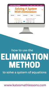 top ideas about algebra equation combining like need help using the elimination method to solve a system of linear equations check out