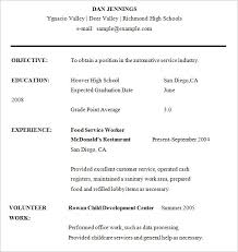 high school student resumes template examples for for resume format for high school student