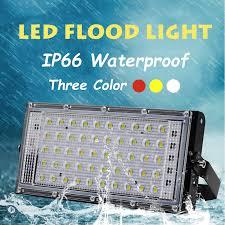 50W LED Flood Light AC 220V Remote Control <b>Street</b> Lamp ...