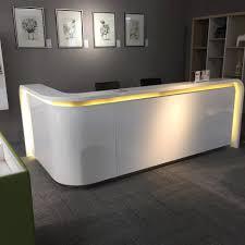 2.8 m <b>modern white</b> reception Cashier desk supplier with <b>led</b> light ...