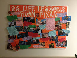 17 best images about student affairs programming resident assistant bulletin board on life lessons according to pixar bethany college west virginia