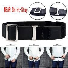 Unisex Braces <b>Women Man</b> Shirt Holder <b>Adjustable Near</b> Shirt Stay ...