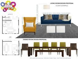 visual jill design decorating services visual jill living room dining room design proposal
