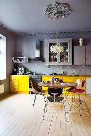 design kitchen yellow green elements