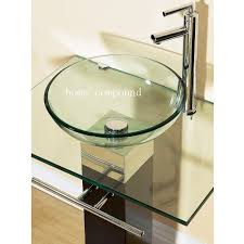 design basin bathroom sink vanities: modern bathroom vanities pedestal glass bowl vessel sink combo w