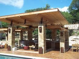 Outdoor Patio Kitchen Terrific Outdoor Patio Design For Lounge Space Backyard Ideas