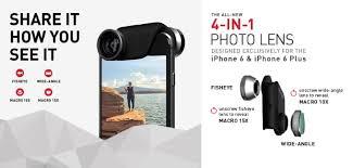 <b>Olloclip</b> 4-in-1 Photo Lens - <b>набор</b> съемных <b>линз</b> для iPhone 6