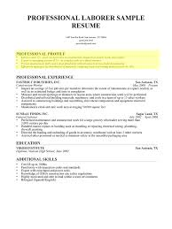 doc how to write a professional profile resume genius 8001067 how to write a professional profile resume genius laborer cover letter