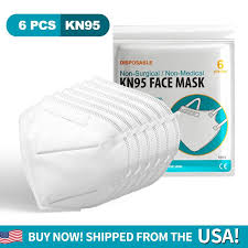 1 PACK(6 PCS) DISPOSABLE <b>KN95 Face</b> Mask - Fast And <b>Free</b> ...