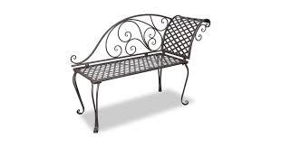 <b>Garden Chaise Lounge 128</b> cm Steel Antique Brown - Matt Blatt