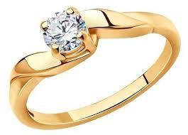 <b>SOKOLOV Позолоченное кольцо</b> для помолвки 93010021 ...