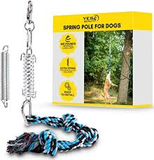 Kitchen & Dining : Durable <b>Spring</b> Pole for Pitbull - Strong <b>Dog</b> Rope ...