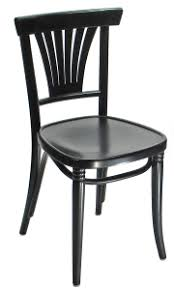 fanback bentwood cafe side chair black lacquer black bentwood chairs