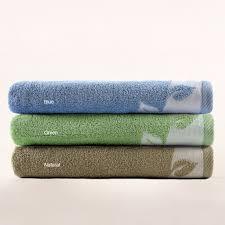 Turkish Cotton Printed Bath Towels Set Of 2