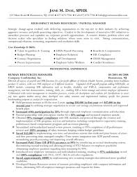 functional resume human resource manager cipanewsletter resume human resource manager resume sample