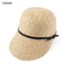 <b>2019 Uspop 2019 New</b> Women Visor Female Wide Brim Straw Hat ...