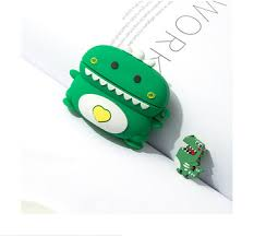 For AirPods Pro Case Cute Love Heart Dinosaur <b>Cartoon</b> Silicone ...