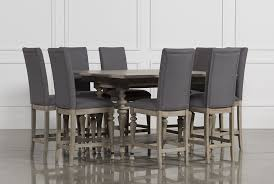 size dining room contemporary counter: caira  piece extension counter set main