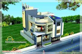 Duplex House Plan and Elevation   Sq  Ft    home applianceDuplex House Plan and Elevation   Sq M   Sq  Ft