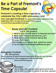 time capsule essay calam atilde acirc copy o time capsule essay what to write for time capsule city of fremont official websitecity of fremont time capsule essay and art contest form