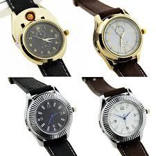 Buy Luxuriant Rechargeable Wrist <b>Watch</b> USB Lighter <b>Metal</b> ...