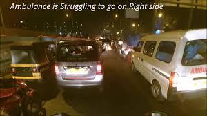 ambulance in traffic mumbai western express highway honda ambulance in traffic mumbai western express highway honda unicorn 160cc
