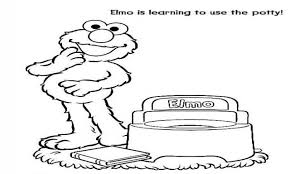 potty training coloring pages best coloring pages  potty training coloring elmo pages trend